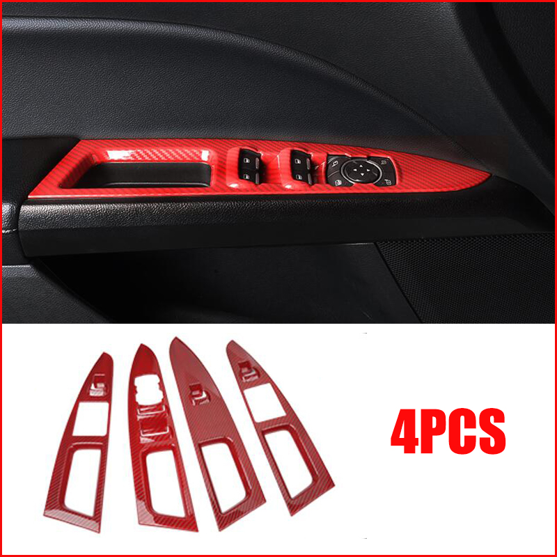 Fit For Ford Fusion Mondeo 2013-2018 Carbon Fiber Window Switch Panel Frame Trim