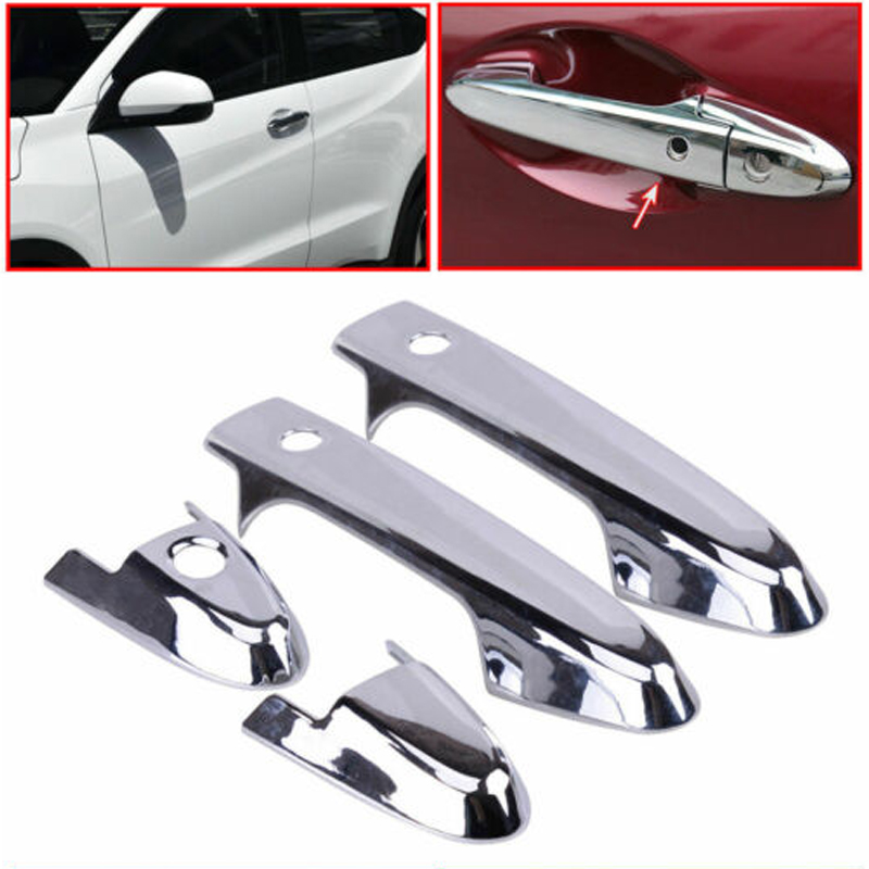 Chrome Rear Door Bowl Cover Handle ABS Trim Accent For Honda HR-V HRV Vezel 16