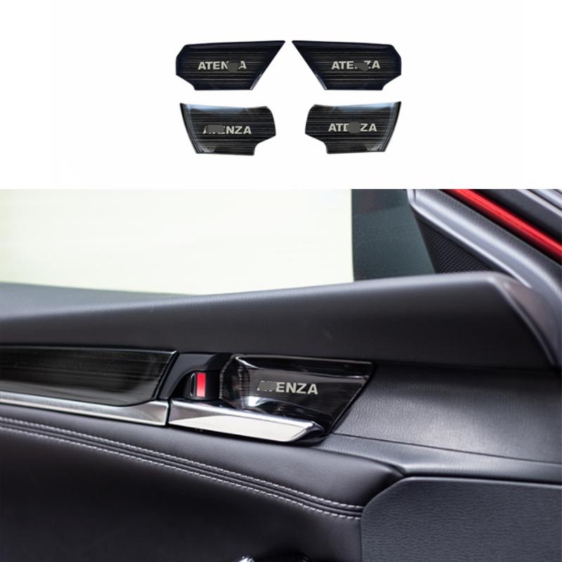 FOR Hyundai Elantra 2017-2020 black steel Interior door bowl sticker trim 4pcs