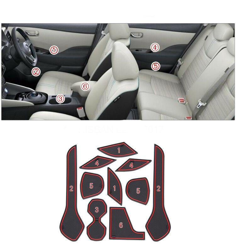 Red Non-Slip Armrest Cup Mat 15PCS Interior Door Pad For Honda Accord 2018