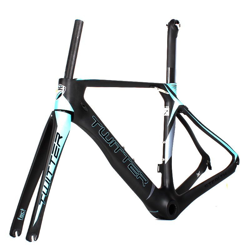 Carbon Fiber 700C Road Bike Frame Fork Seatpost