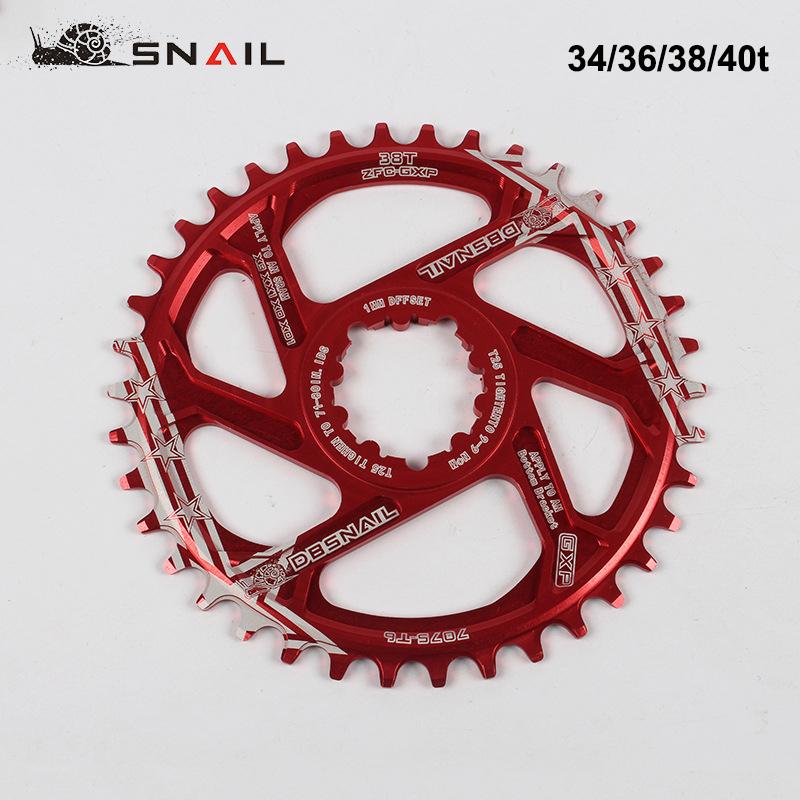 34//36//38//40T MTB Bike Narrow Wide Aluminum GXP Crankset BB Chainring 170 Crank