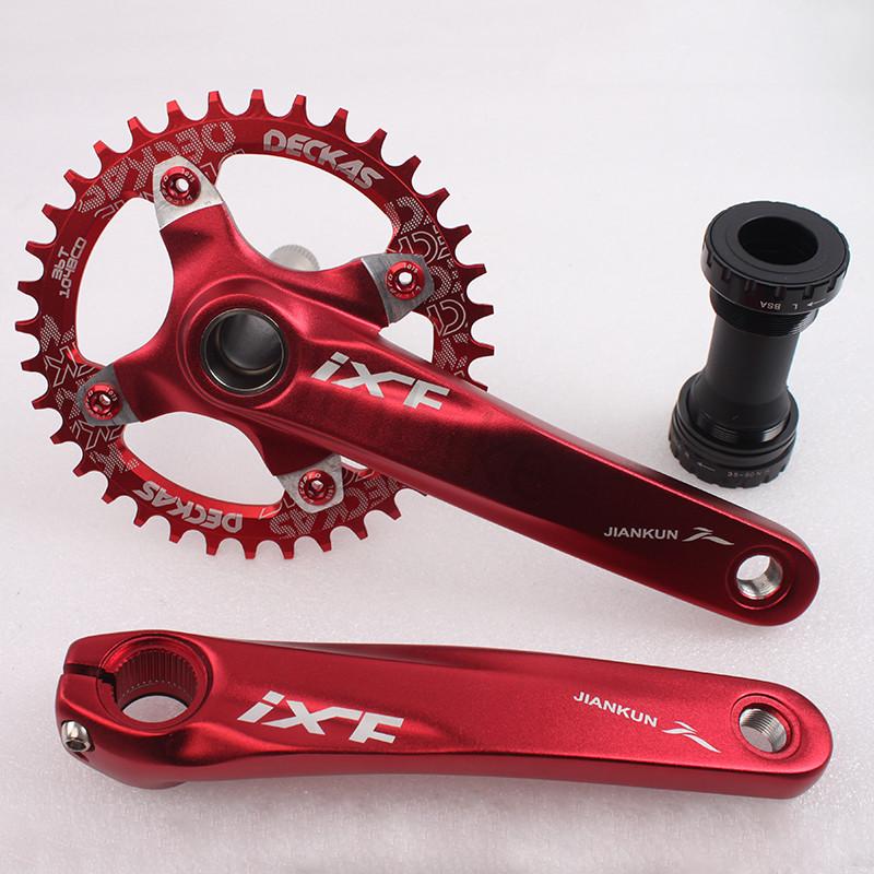 IXF Aluminum MTB Road Bike Bicycle Crankset 170mm BCD 104mm BB w// Bottom Bracket