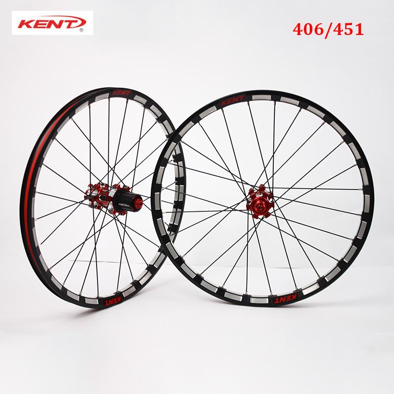 Rt 406//451 Rodas Dianteiro E Traseiro 7-10s QR Modelo Clincher Dobrável Bike Rodas Aro