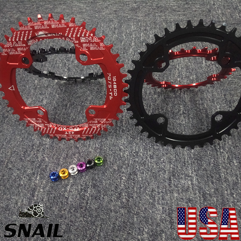 32-42T 104BCDmm Round Oval Single Chainring Mountain Bike Chain Guard Aluminum