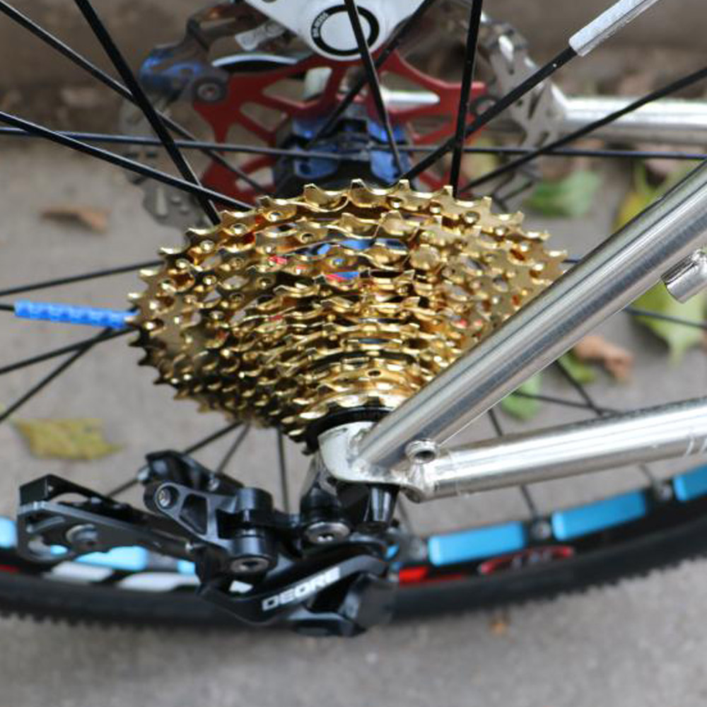 MTB Mountain XC AM Bike Bicycle 10 Speeds 11-36//42T Cassettes 10S Cassette Gold