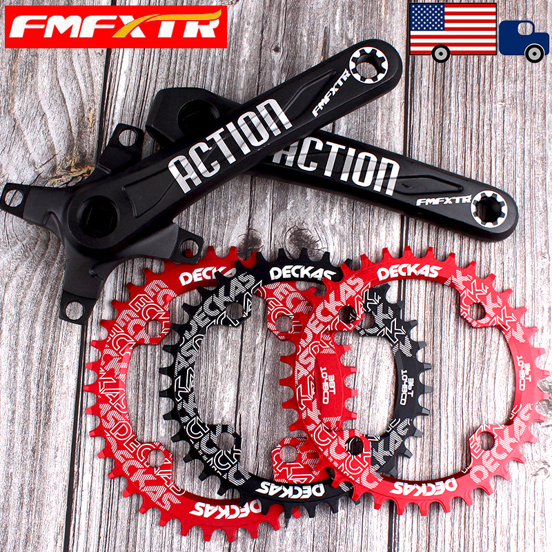 104mmbcd 170mm Crank MTB Bicycle Round Oval 32-52T Chainring Crankset Sprocket