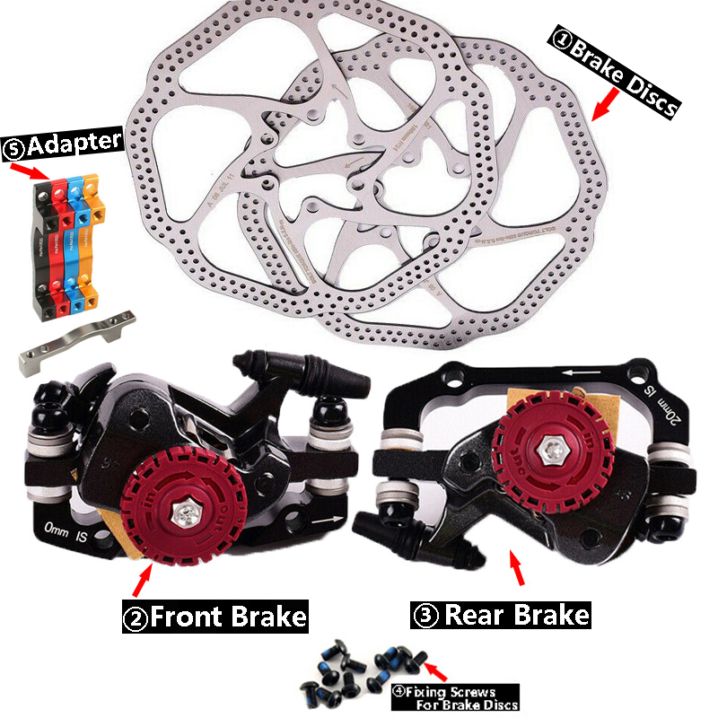 AVID BB7 MTB XC AM Bike Mechanical Disc Brake Calipers Rotors 160mm Front Rear