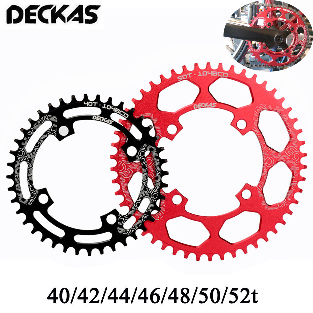 DECKAS 32~52T Single Speed Chainring 104 BCD Narrow Wide Chain Ring for MTB Bike