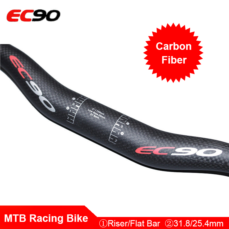 EC90 MTB Racing Bike Handlebar Full Carbon Fiber 25.4//31.8mm Flat//Riser Drop Bar