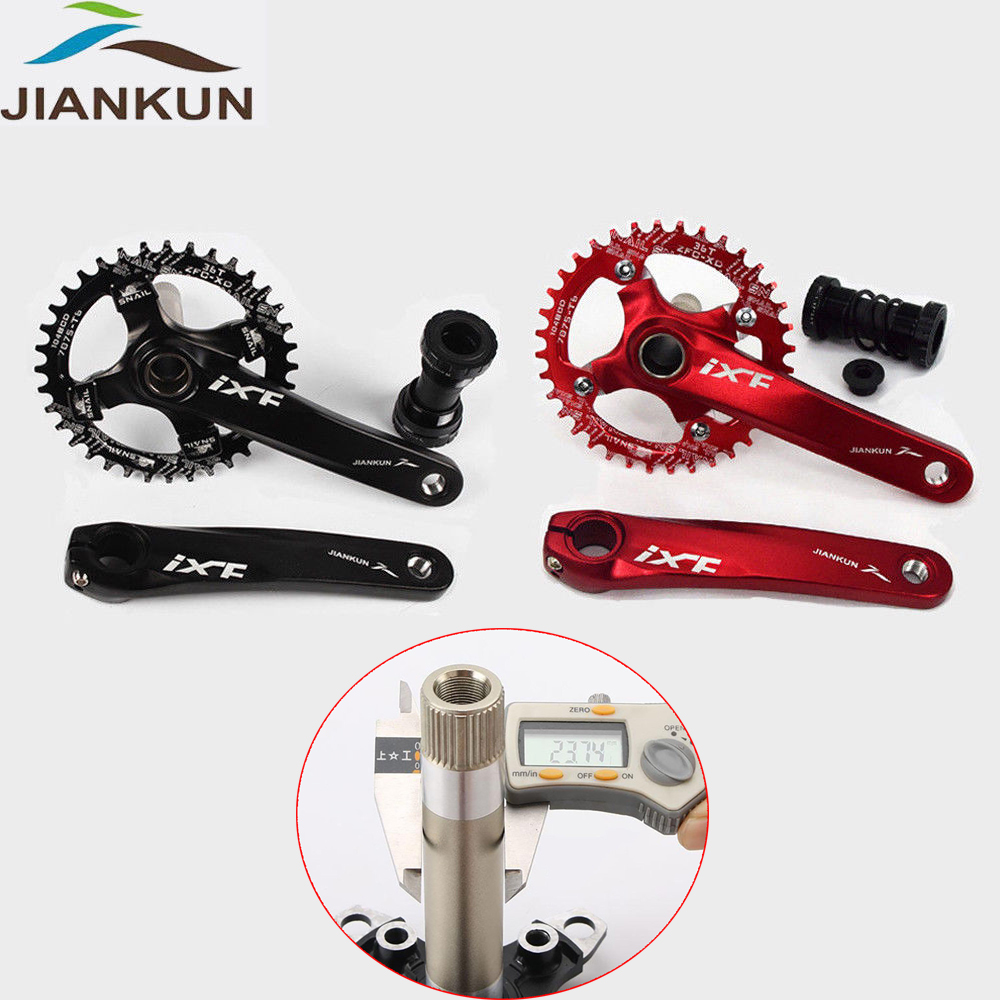 MTB Road Bike 104BCD Crankset 170mm Crank Arm Chainset Bottom Bracket Chianring