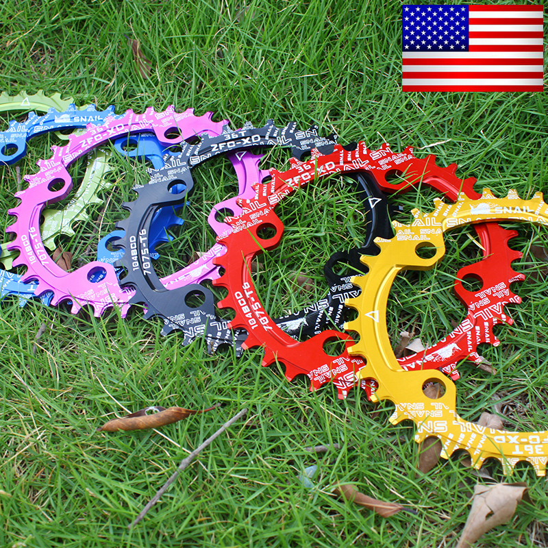 SNAIL 104BCD Single Chainring Round Oval 32-42T Narrow Width Sprockets /& Guards