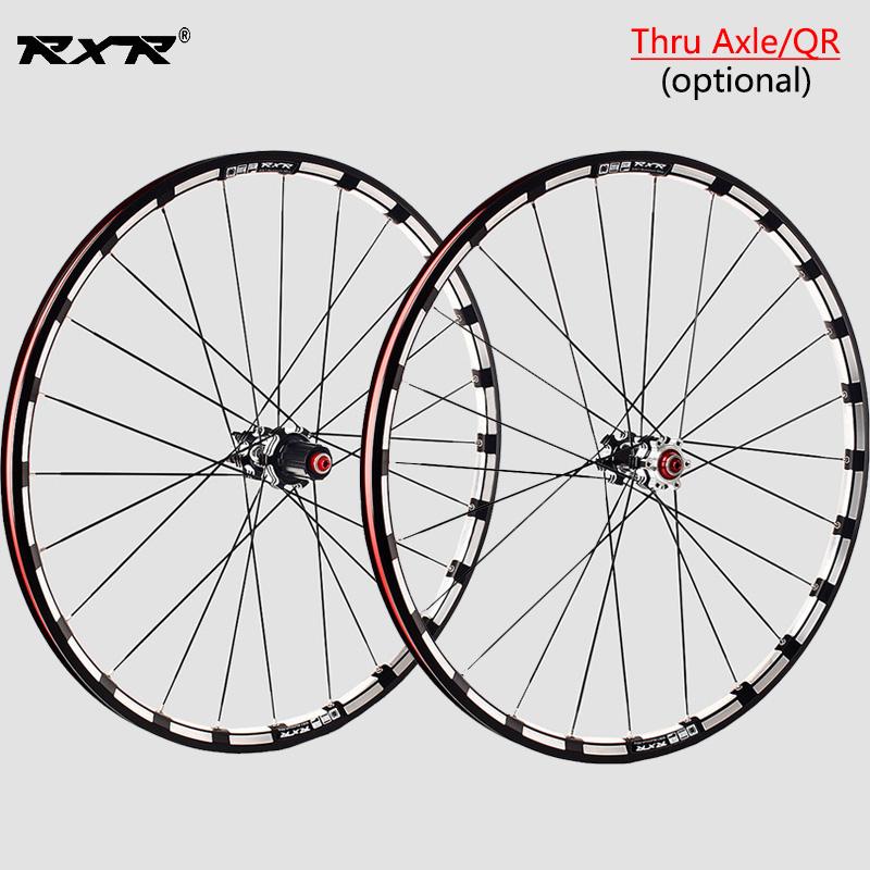 7-11S MTB Bike Wheels Front Rear QR//Thru Axle Carbon Hub Ultralight Wheelset Rim