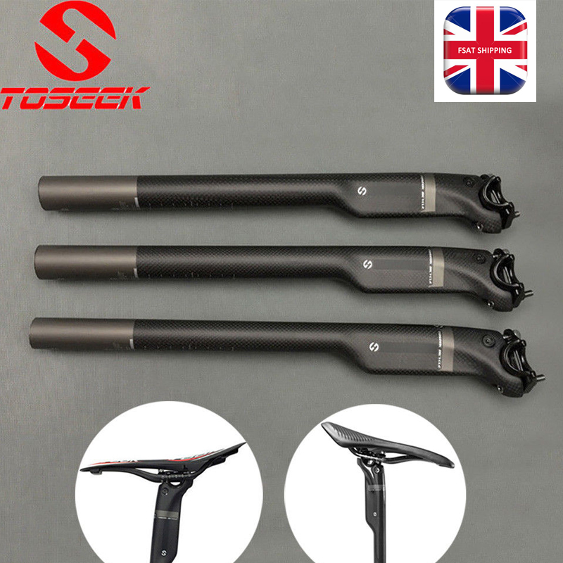 TOSEEK Carbon Cycling Seat Post Tube MTB Bike saddle Seatpost 27.2//30.8//31.6mm