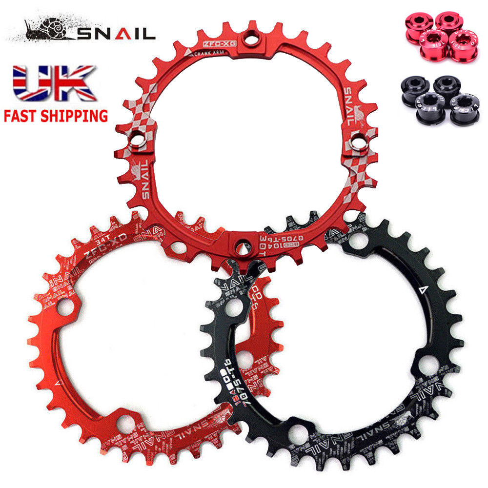 SNAIL 104bcd MTB Bike Chainring 32-42T Round//Oval Narrow Wide Bicycle Chain Ring