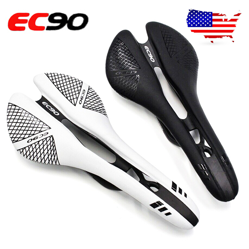 EC90 Full Carbon Fiber Seat Mountain Road Bike Racing Hollow Seat Saddles Black