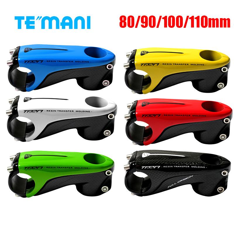 """TEMANI 1-1//8/"""" 3K Full Carbon Cycling Stem Bike Handlebar Stems 80//90//100//110mm"""
