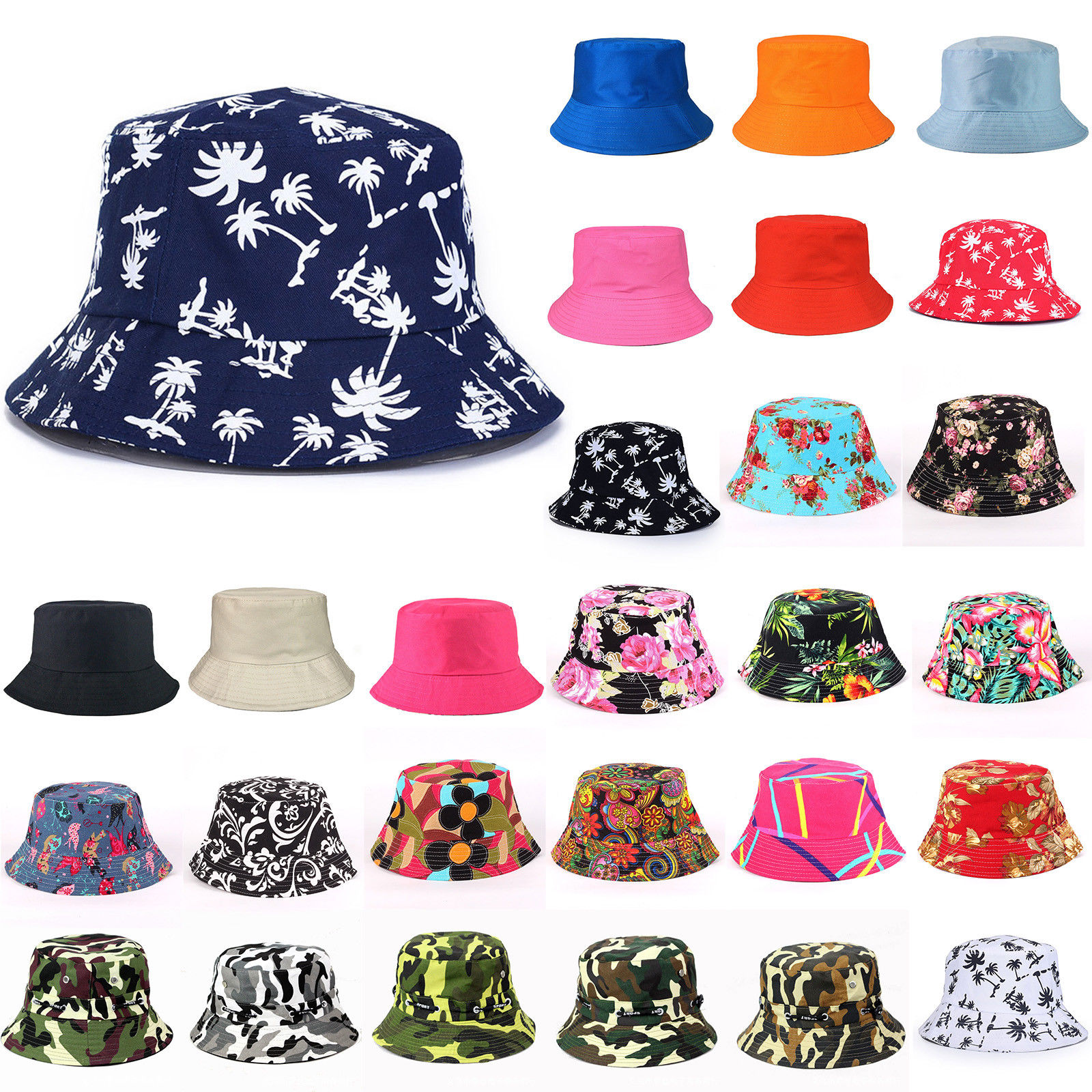 7c2a6a4e19a Details about Unisex Bucket Hat Outdoor Fishing Hunting Mens Summer Casual  Beach Visor Sun Cap