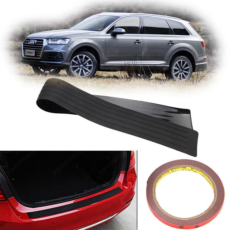 Black For Car SUV Rear Trunk Sill Plate Bumper Guard Protector Rubber Pad Covers