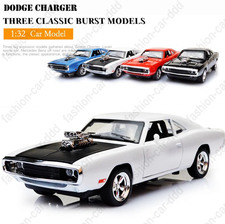 1//32 Diecast Alloy Car Model Minicar Fast /& Furious 7 Dodge Charger light/&sound