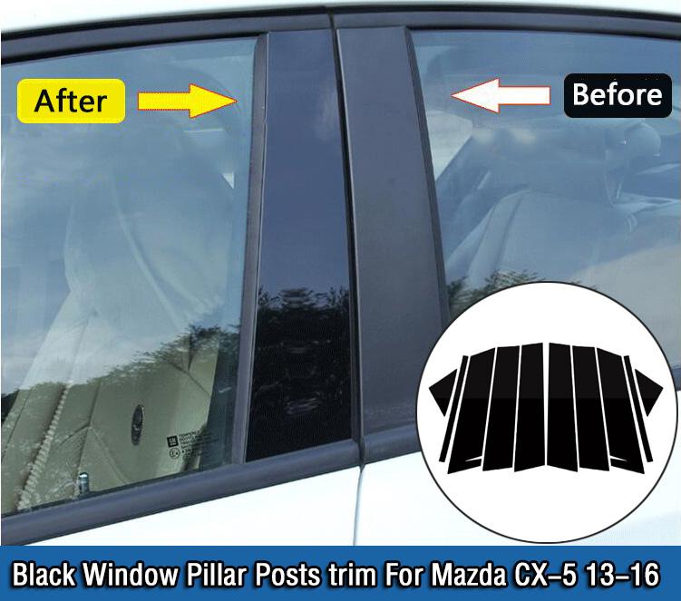 Mazda CX5 CX-5 2014-2017 CHROME DOOR SILL SCUFF PLATE GUARD TRIMS PROTECTOR