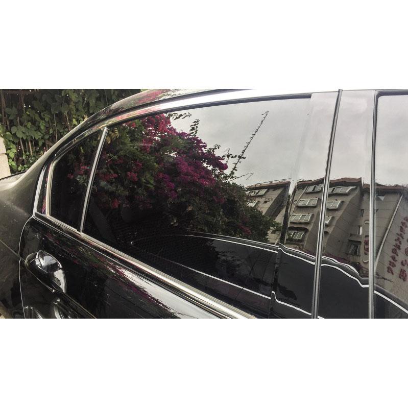 Black Pillar Posts For Honda Accord 2008-12 6pc Set Cover Door Trim Window Decal