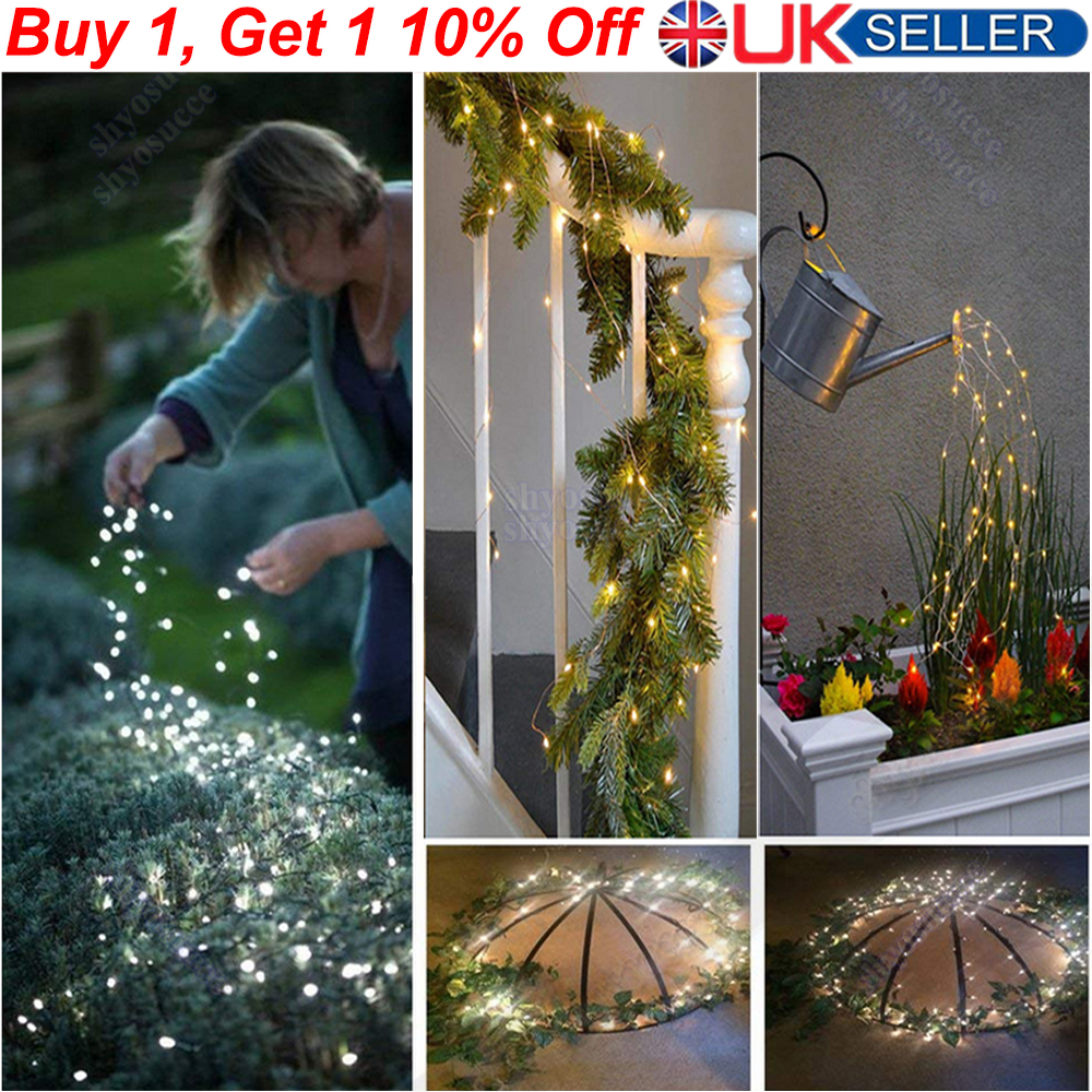 AU 100Led Battery Operated Fairy Lights String Xmas Party Garden Indoor Outdoor