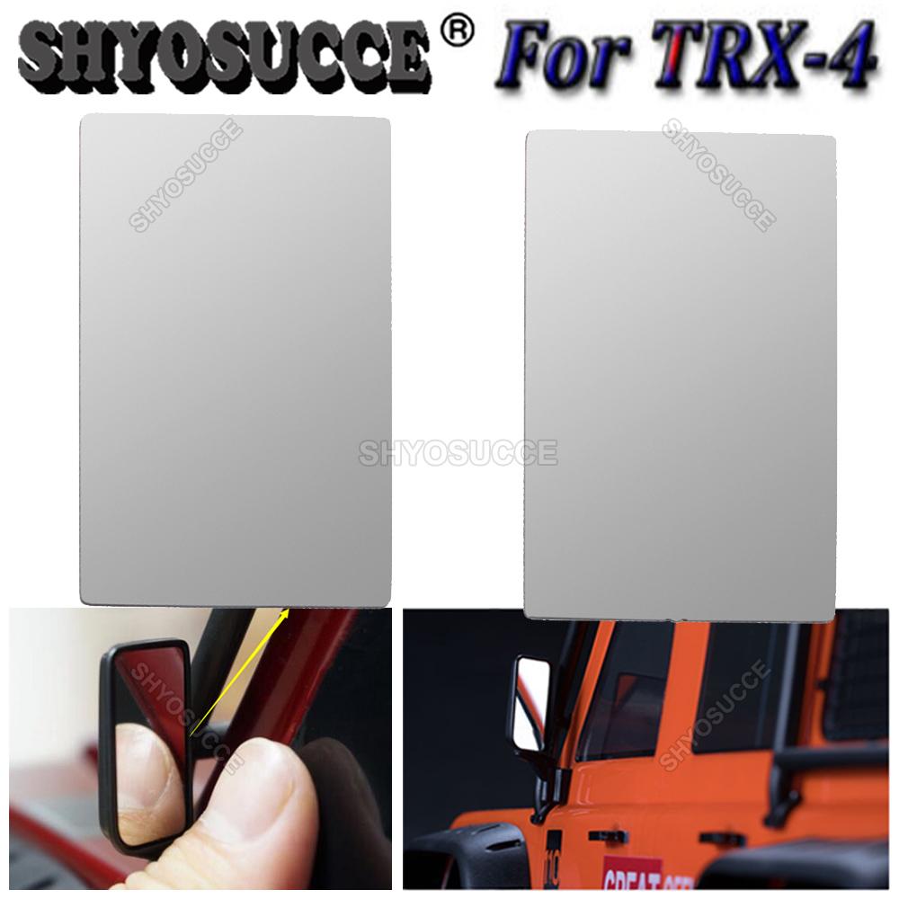 Lente Retrovisor de simulação para TRAXXAS TRX-4 TRX4 1//10 Rc Crawler Car Model