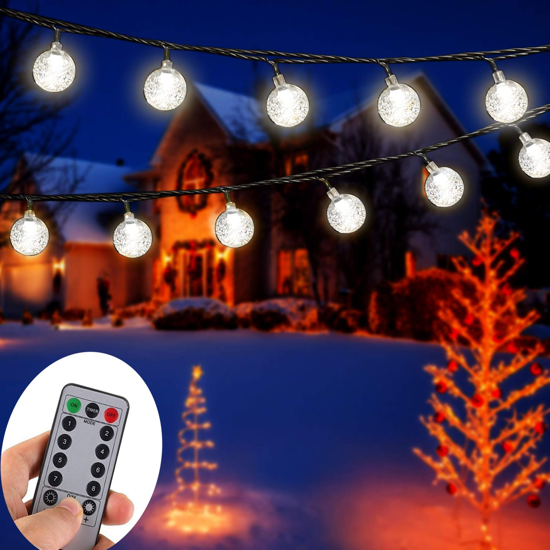 50 LED Solar Lichterkette Weihnachtsbaumkette Gartenfest im Freien