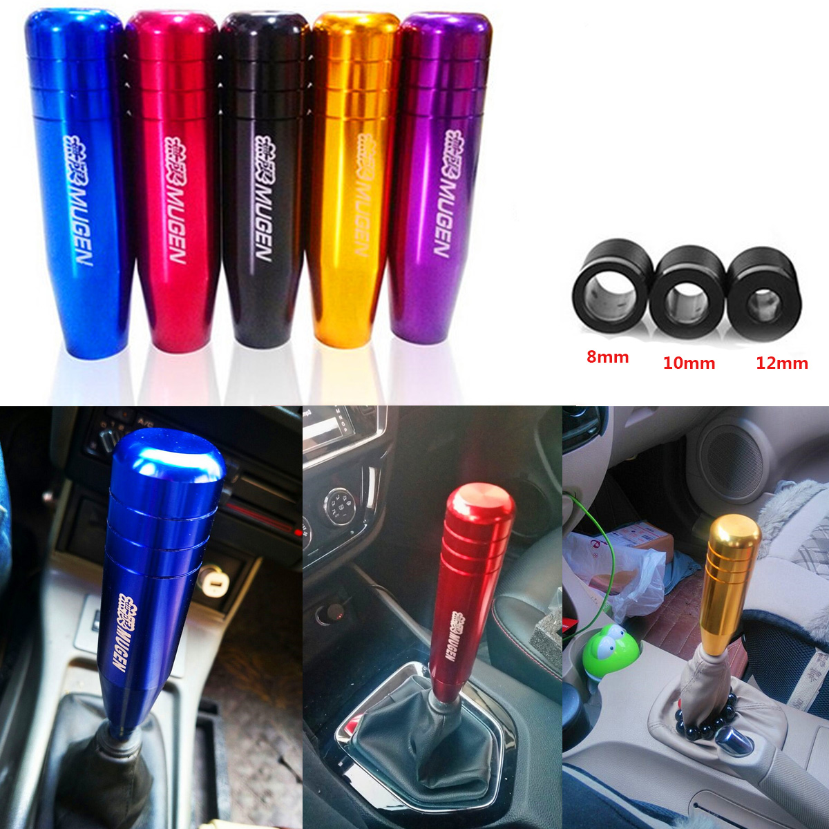 1PC Aluminum 5 6 Speed Manual Gear Shifter Stick Shift Knob Lever For Honda Red
