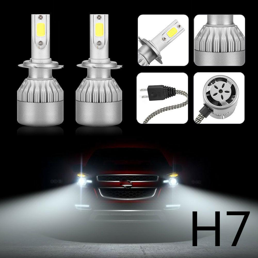 4-Side CREE Lamp H7 LED Headlight Bulb High Low Beam Kit 6500K EMC 130W 33000LM
