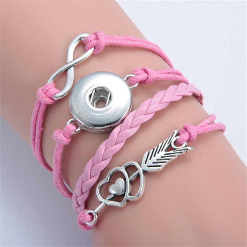 Hot Rhinestone Drill Snaps Chunk Charm Button Fit Noosa Leather Bracelets N.36
