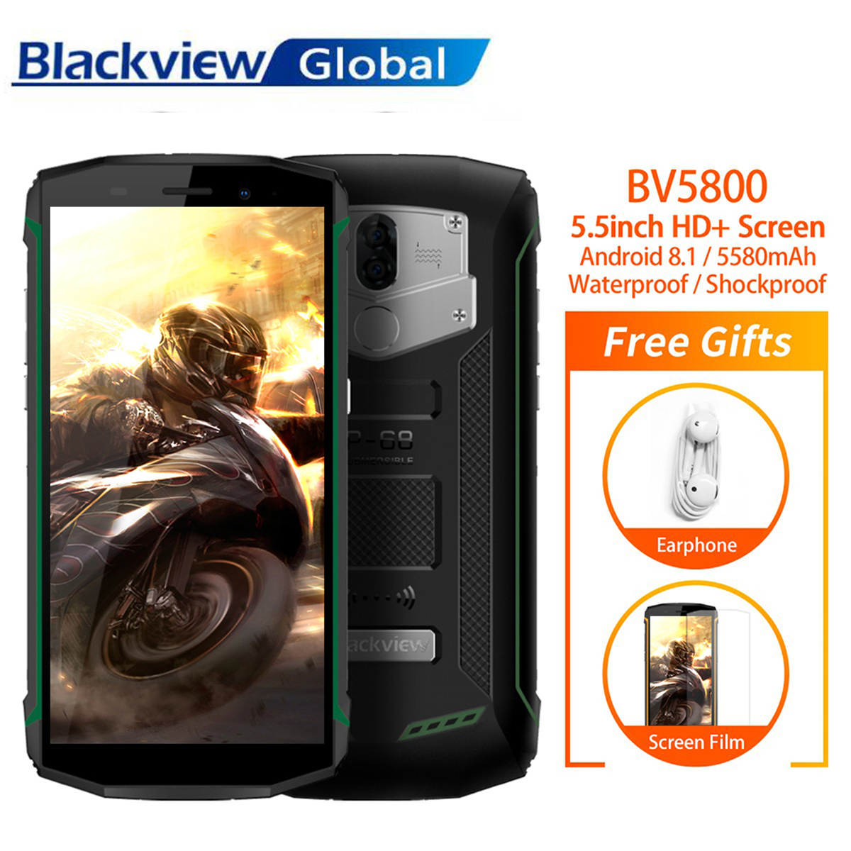 promo code d94e9 4cce5 Details about Brandnew Blackview BV5800 5.5