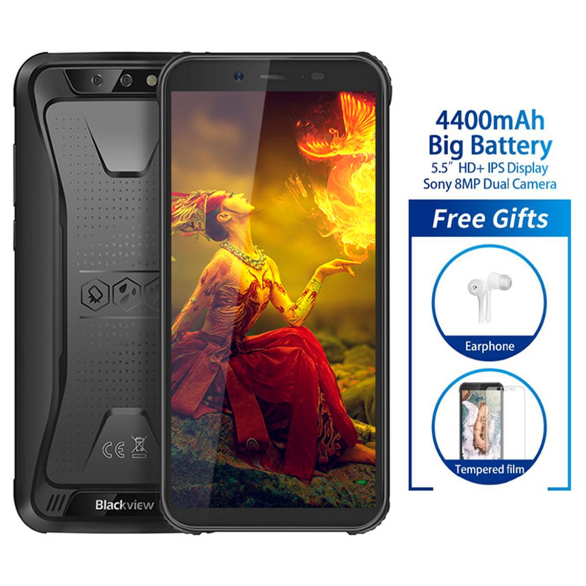 Details About Blackview Bv5500 2gb 16gb Ip68 Waterproof Rugged Smartphone 4400mah Mtk6580p