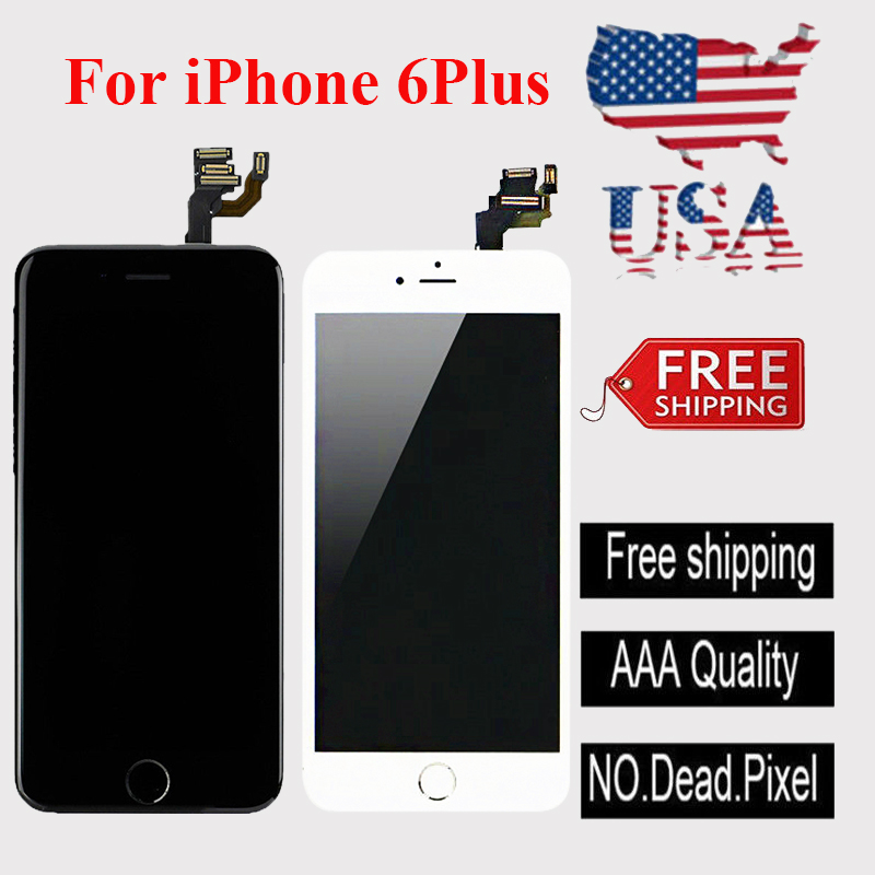 Black Compatible with iPhone 6 Plus Screen Replacement COASD LCD Digitizer Touch Screen Assembly Set Model No.A1522 A1524 A1593.