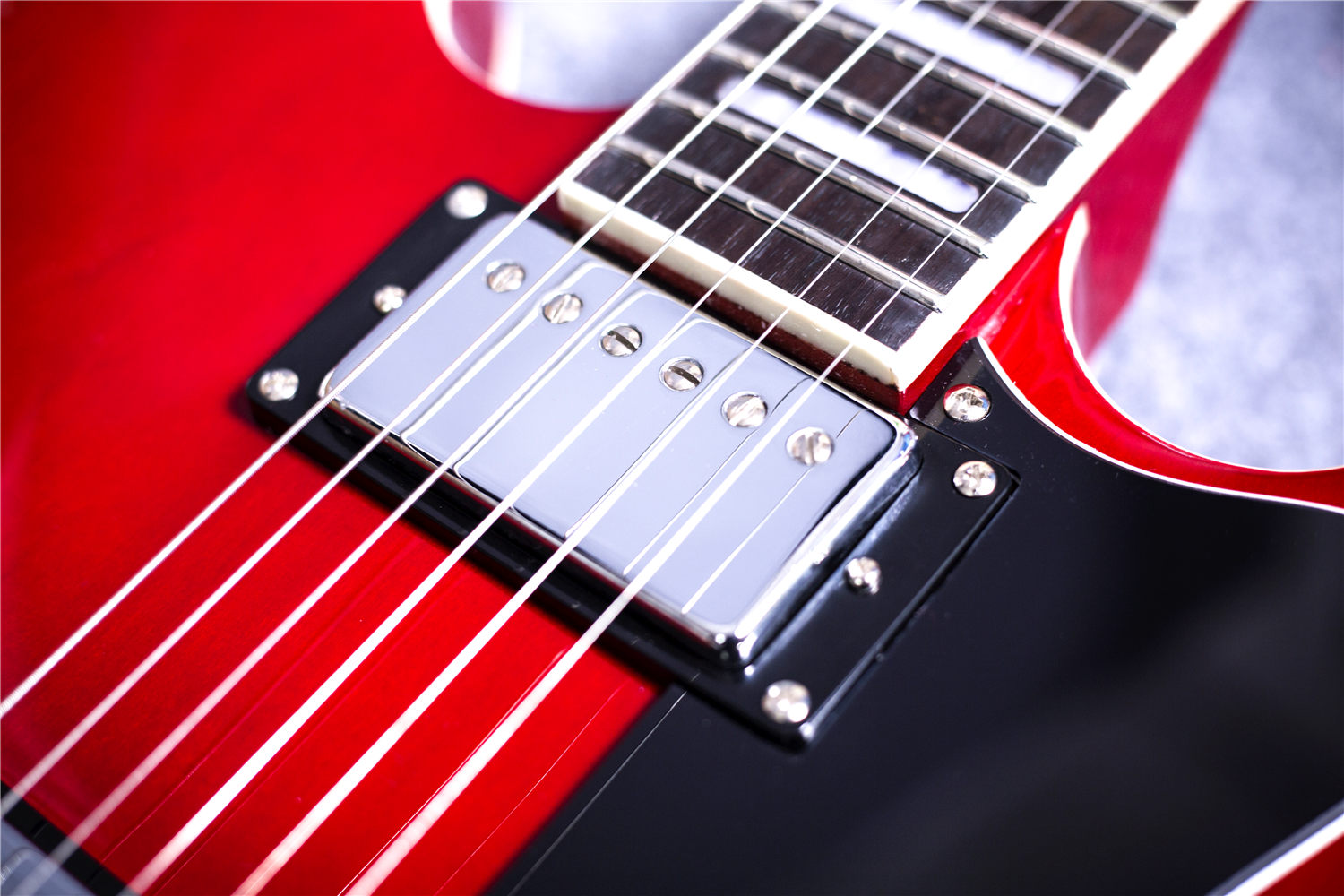 2019 new grote electric jazz guitar in red semi hollow block inlay free shipping ebay. Black Bedroom Furniture Sets. Home Design Ideas