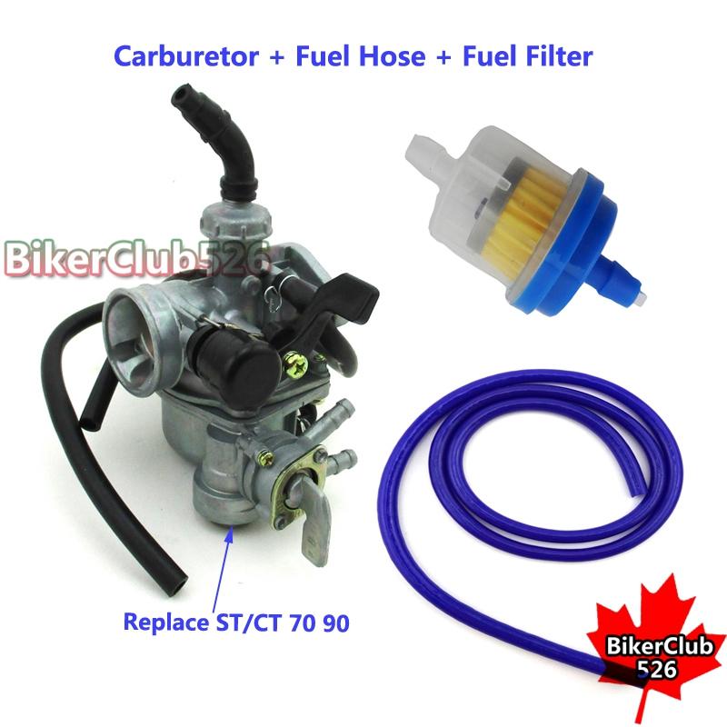 pz19 carburetor fuel hose filter for honda ct70 st70 ct90. Black Bedroom Furniture Sets. Home Design Ideas