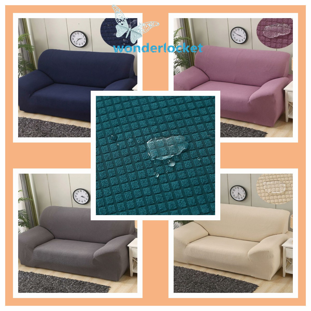 Waterproof Elastic STRETCH SOFA COVERS Slipcover Protector Settee 1//2//3//4 Seater