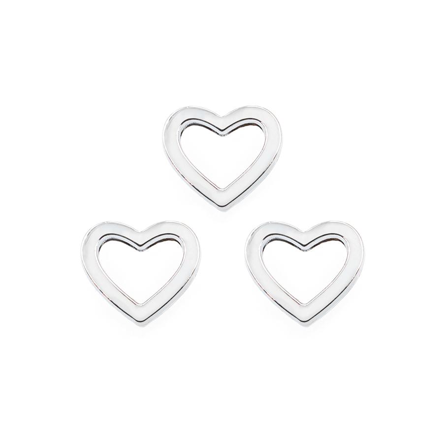 wholesale 8mm slider color heart slide charms fit for 8mm belt//pet collar SL670