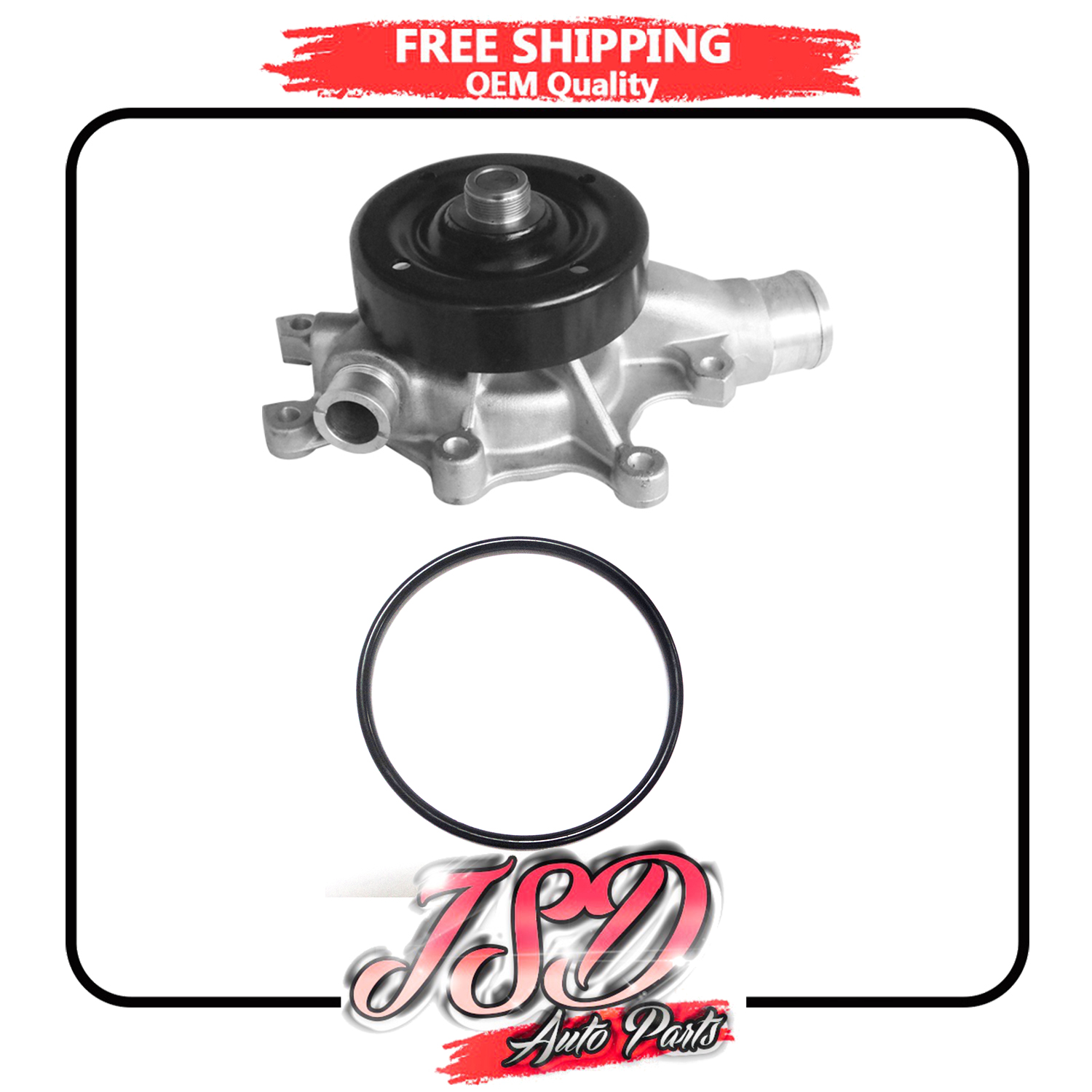 New Water Pump W// Gasket For Dodge Ram 2500 Ram 3500 1994-2002 8.0L V10 AW7169