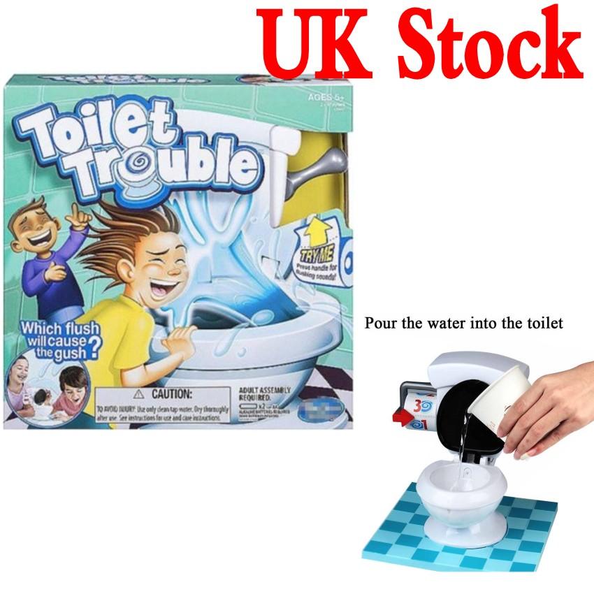 Toy Toilet Flushing Sound : Uk kid toy toilet trouble game hilarious flush sound