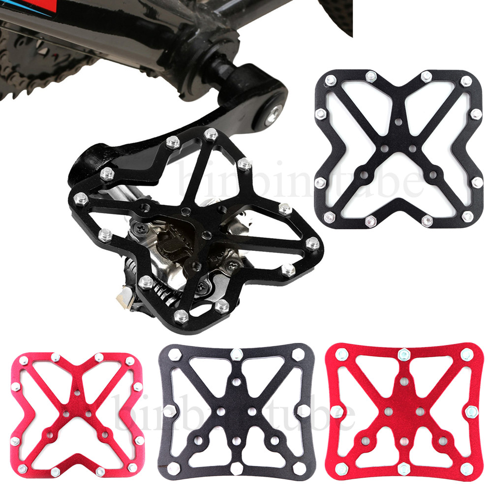 Pair Of Bike Bicycle Universal Clipless Clip-in Pedals To Platform Pedal Adapter