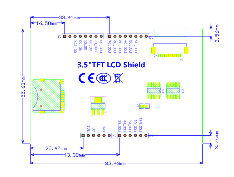 3 5 inch TFT LCD Display Touch Screen Module For Arduino UNO