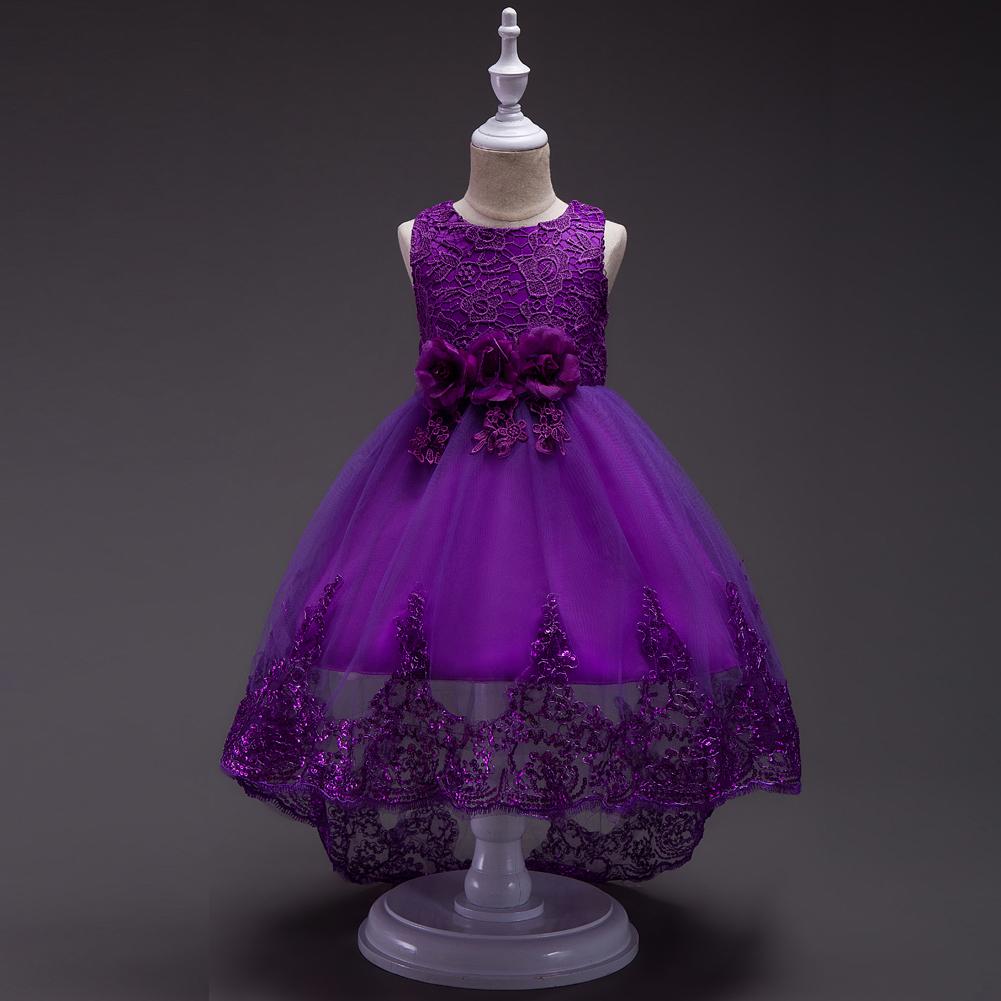 Dama De Honor Lazo Vestido Princesa Bebé Fiesta Niños Boda Formal | eBay