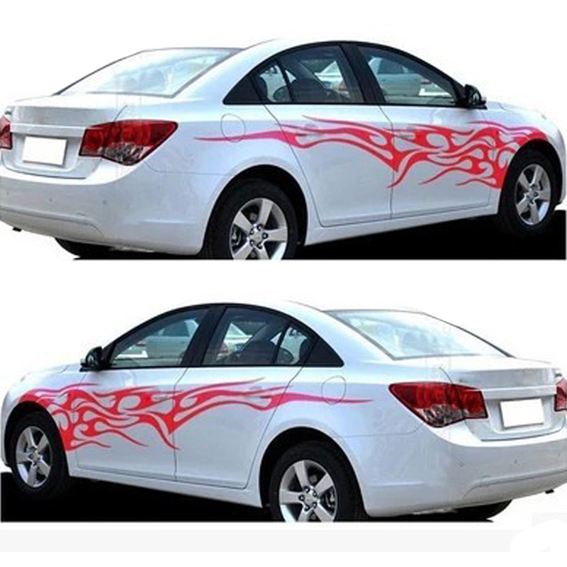 Details about Car Decal Vinyl Graphics Two Side Stickers Black White 2PCS  Black/Red/White