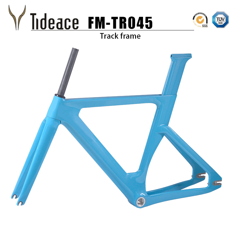 T800 Road Racing Fixed Gear Track Bike Frame 49 51 54cm Red Celeste