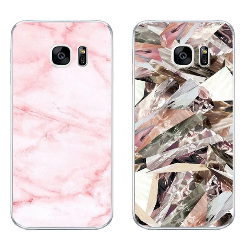 4e2da9b8fe0 For Samsung Galaxy S6 S7 C7 Edge Case Soft TPU Back Phone Cover Shell Marble