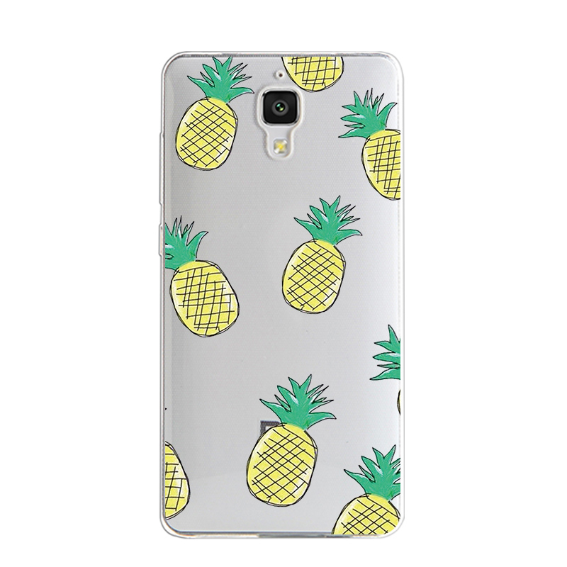 Cases For Xiaomi 4 M4 Mi4 Soft TPU Silicone Protective Back Covers Skins Lemon