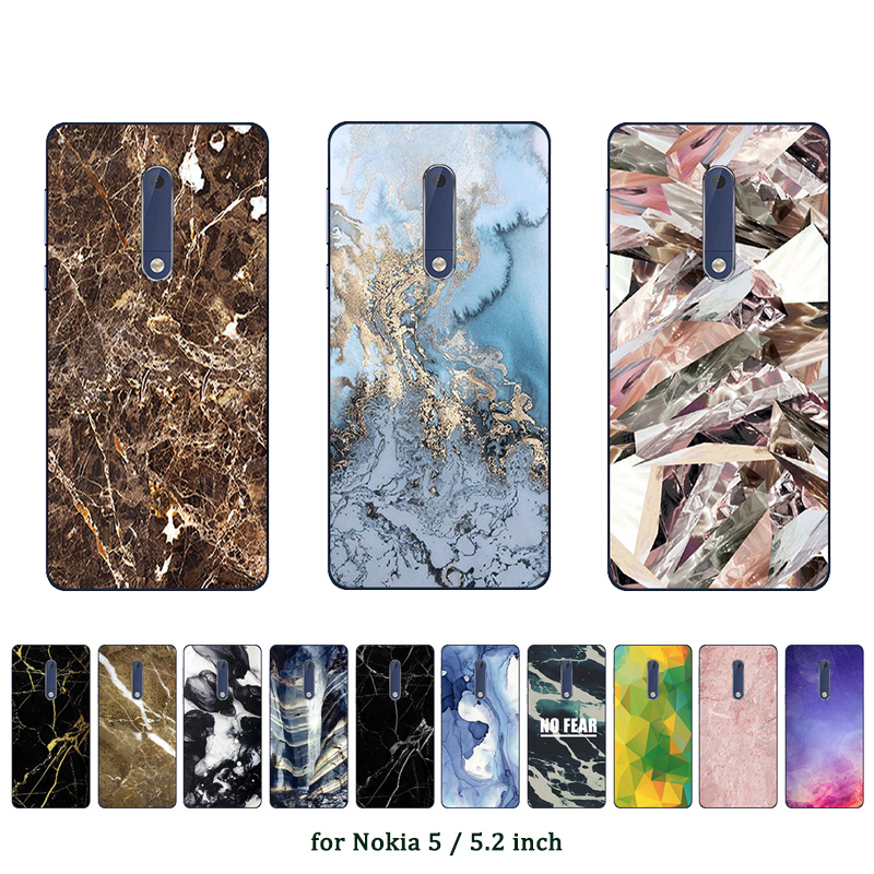 pretty nice 6b548 df8e7 Soft TPU Silicone Case For Nokia 5 Protective Phone Back Covers ...