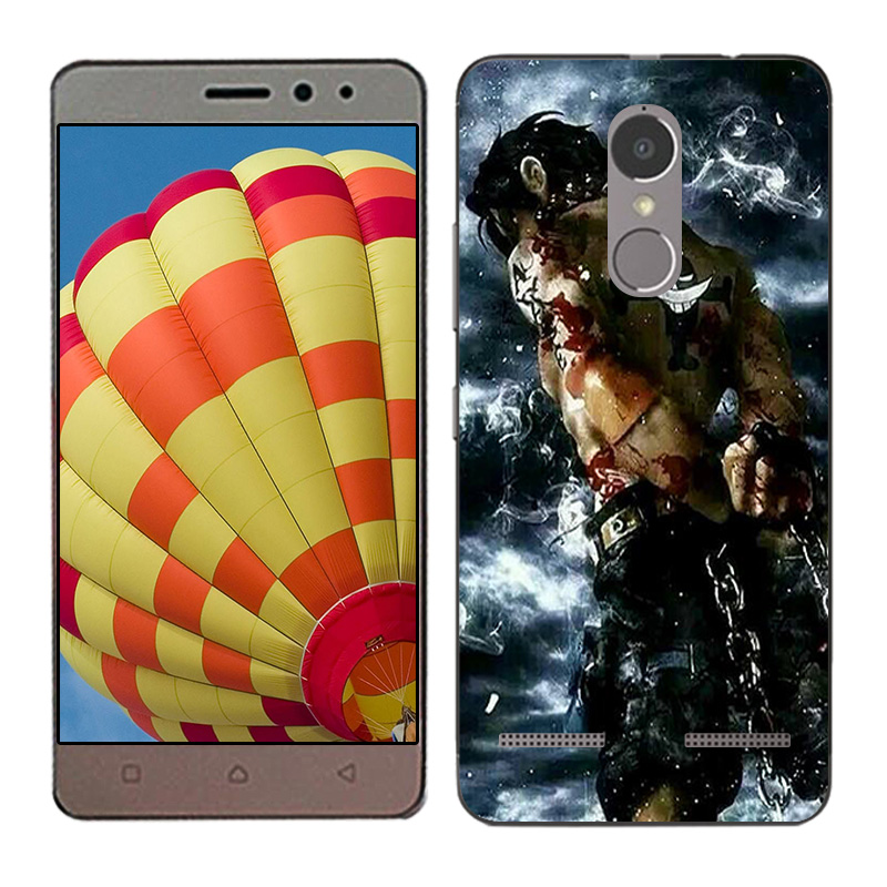 Soft TPU Silicone Case For Lenovo Vibe K6 Power Phone Back Cover Skins Cartoon